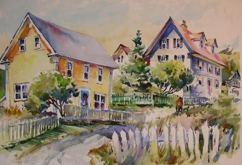 Donnah cameron Houses On The Hill 14x21 $600.00